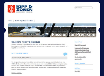 KippZonen WordPress blog