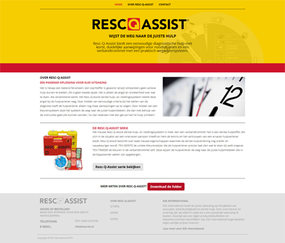 voorbeeld responsive website Resc-Q-Assist