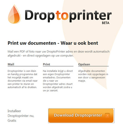 droptoprinter- voor autoprint pdf, jpg, word, excel