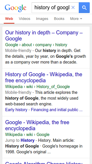 Google rich snippets met update
