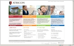 website cms atricon integrace sitemanager project
