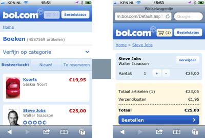 Mobiele webshop m.bol.com