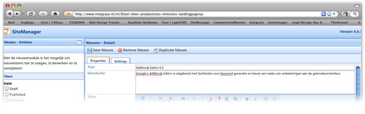 SiteManager CMS: innovatieve oplossing voor content beheer