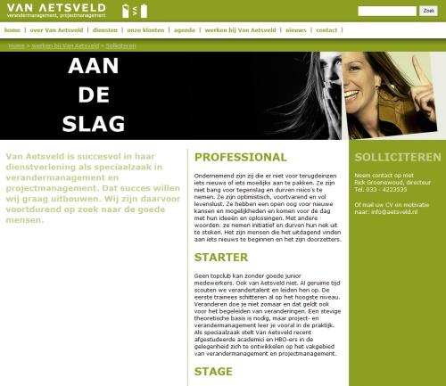 Van Aetsveld website